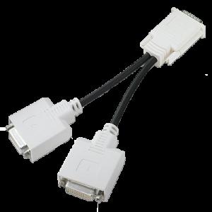 DMS 59 針顯卡轉 DVI x 2 連接線